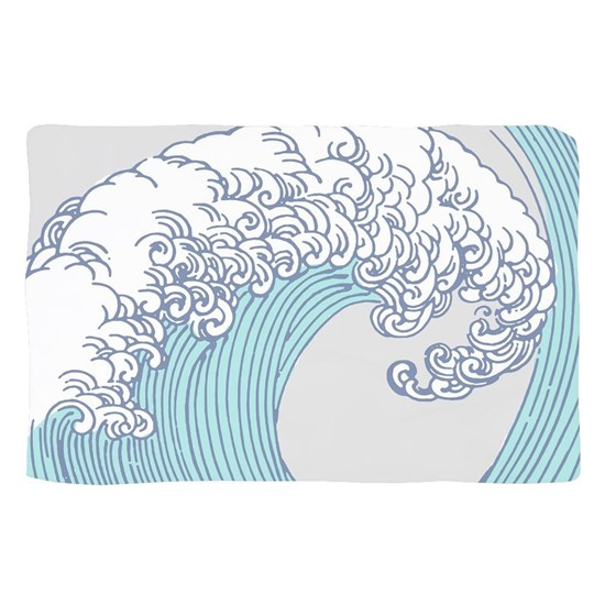 Japanese Wave Blue Beach Ocean Seashore