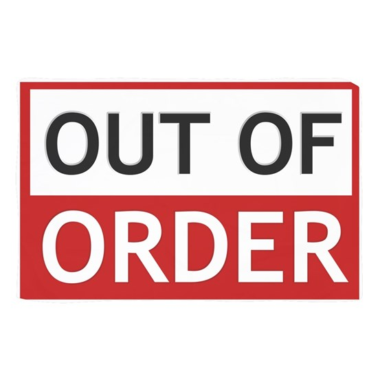 Out Of Order Sign TBBT