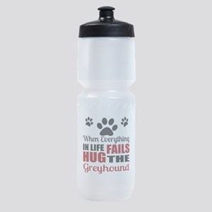 Hug The Greyhound Sports Bottle