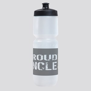 U.S. Army: Proud Uncle (Black) Sports Bottle
