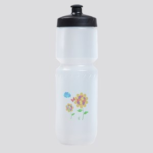 Autism Awareness Sunflower Sports Bottle
