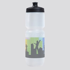 Colorful Musical Theme Sports Bottle
