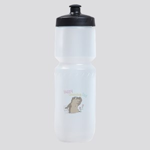 Happy Groundhog Day Sports Bottle