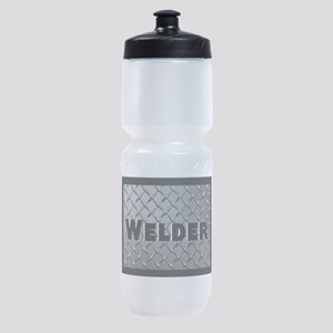 Welder Diamond Plate Sports Bottle