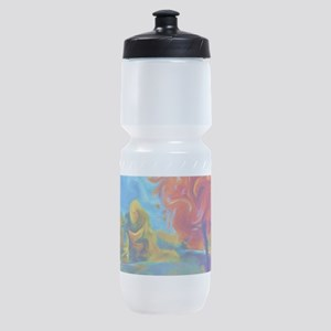 Abstract Landscape Art Painting Sports Bottle