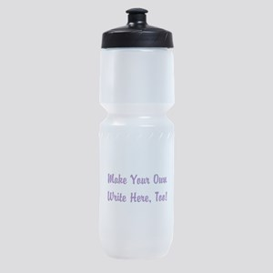 Make Your Own Cursive Saying/Meme Cr Sports Bottle