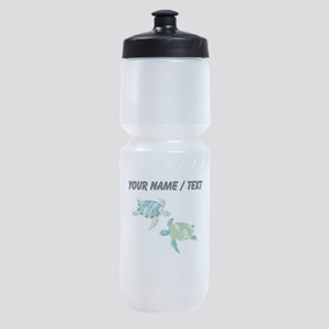 Custom Sea Turtles Sports Bottle
