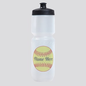 Personalized Softball Sports Bottle