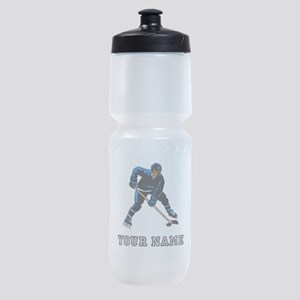Hockey Player (Custom) Sports Bottle