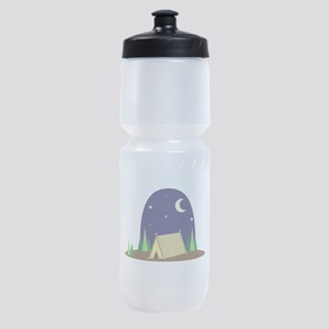 Night Campsite Sports Bottle