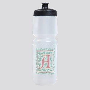 Elegant Renaissance Letter A Sports Bottle