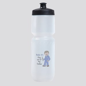 STAY OUT OF MY TOOLBOX Sports Bottle