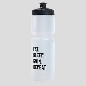 Eat Sleep Swim Repeat Sports Bottle