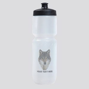 Wolf Personalized Sports Bottle
