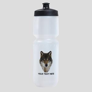 Wolf Personalized Sports Bottle