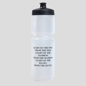funny jewish joke wisdom Sports Bottle