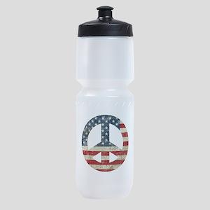 Vintage Peace In America Sports Bottle