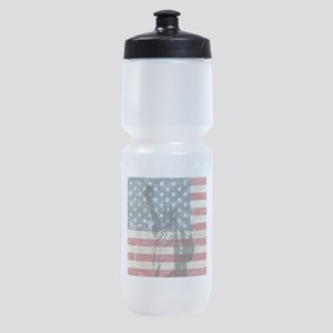 Vintage Statue Of Liberty Sports Bottle