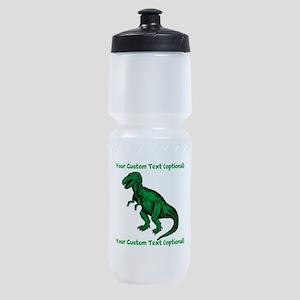 CUSTOM TEXT T-Rex Sports Bottle