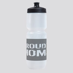 U.S. Army: Proud Mom (Black) Sports Bottle