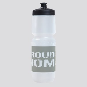 U.S. Army: Proud Mom (Military Green Sports Bottle