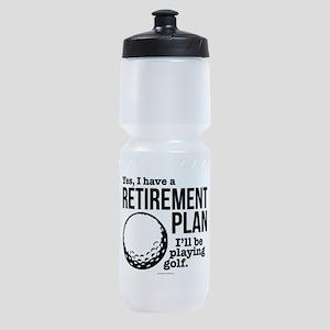 Golf Retirement Plan Sports Bottle