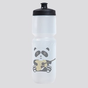 Panda playing a guitar Sports Bottle