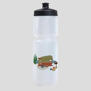 Camping Trailer Sports Bottle