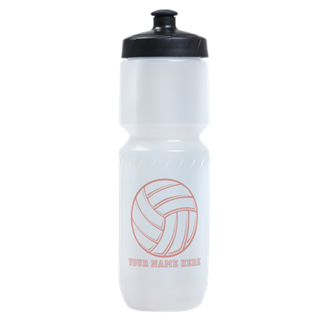 Custom Red Volleyball Sports Bottle