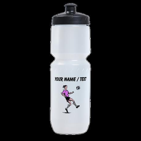 Custom Girl Soccer Player Sports Bottle