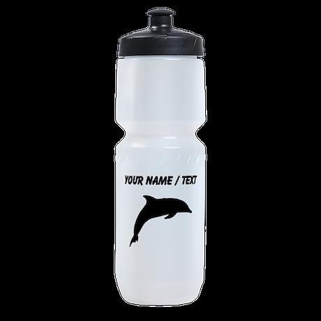 Custom Dolphin Silhouette Sports Bottle