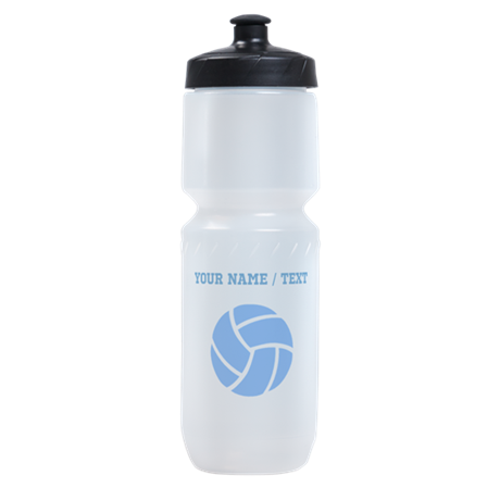 Custom Blue Volleyball Sports Bottle
