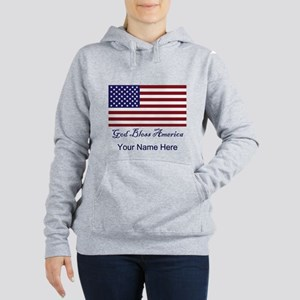 God Bless America Women's Hooded Sweatshirt