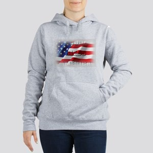 Patriotic God Bless America Women's Hooded Sweatsh