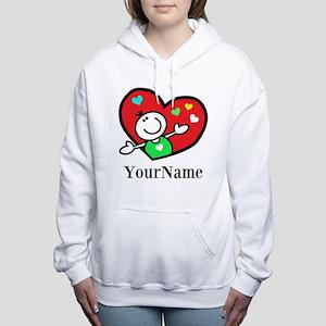 Happy Heart (p) Women's Hooded Sweatshirt