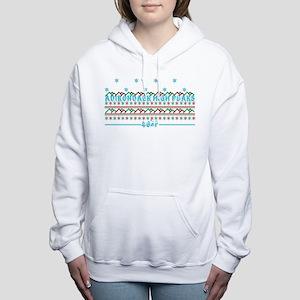 ADK high peaks christmas Women's Hooded Sweatshirt