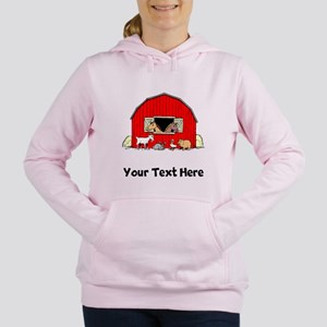 Barn Animals (Custom) Women's Hooded Sweatshirt