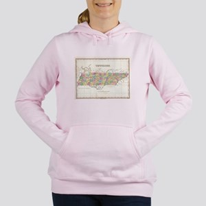 Vintage Map of Tennessee Women's Hooded Sweatshirt