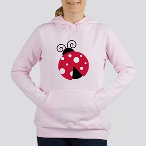 Large Ladybug Women's Hooded Sweatshirt