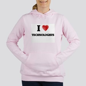 I love Technologists (He Women's Hooded Sweatshirt