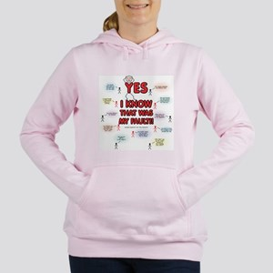 Yes, I Know That Was My Fault! Sweatshirt