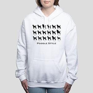 Poodle Styles: Black Sweatshirt