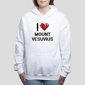 I love Mount Vesuvius di Women's Hooded Sweatshirt