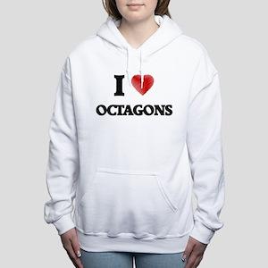 I Love Octagons Women's Hooded Sweatshirt