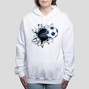 Soccer Ball Burst Women's Hooded Sweatshirt