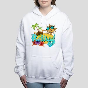 Retired Beach Women's Hooded Sweatshirt