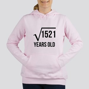 39 Years Old Square Root Women's Hooded Sweatshirt