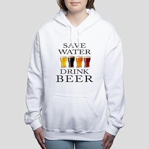 Save Water Drink Beer Women's Hooded Sweatshirt