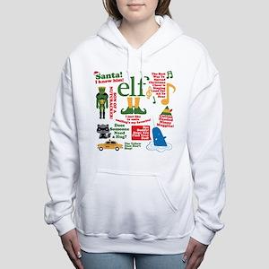 Elf Movie Collage Women's Hooded Sweatshirt
