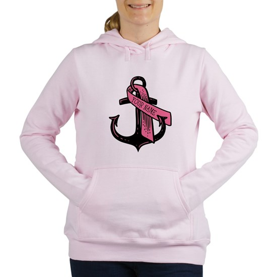 PERSONALIZED Pink Ribbon Anchor